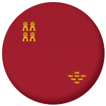 Murcia Flag 25mm Flat Back.